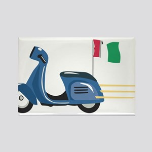 Italian Vespa Rectangle Magnet
