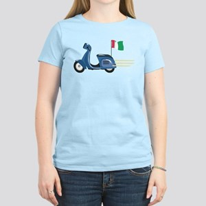 Italian Vespa Women's Light T-Shirt