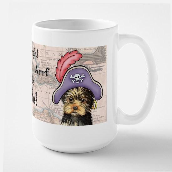 Yorkie Pirate Large Mug