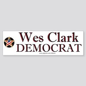"""Wes Clark Democrat"" Bumper Sticker"