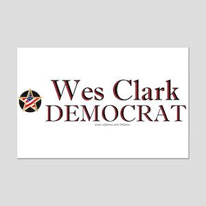 """""""Wes Clark Democrat"""" Mini Poster Print"""