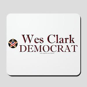 """Wes Clark Democrat"" Mousepad"