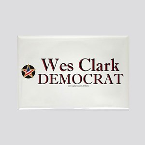 """Wes Clark Democrat"" Rectangle Magnet"