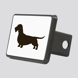 Wirehaired Dachshund Rectangular Hitch Cover