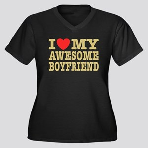 I Love My Aw Women's Plus Size V-Neck Dark T-Shirt