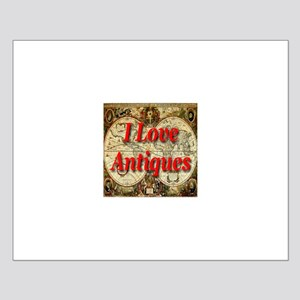 I Love Antiques Small Poster
