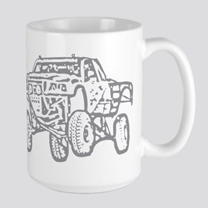 Off-Road Race Truck Grey Large Mug