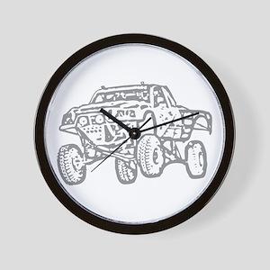 Off-Road Race Truck Grey Wall Clock