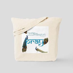 Peacock Prayer Tote Bag