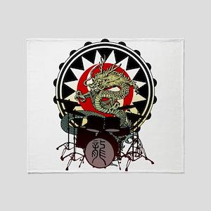 Dragon Drum 06 Throw Blanket