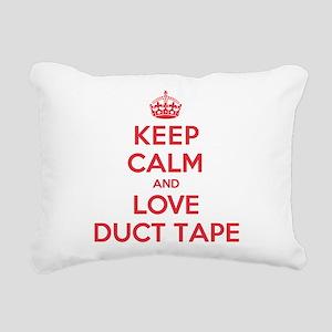 Keep Calm Love Duct Tape Rectangular Canvas Pillow