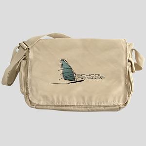 School Of Surf Windsurfing Logo Messenger Bag