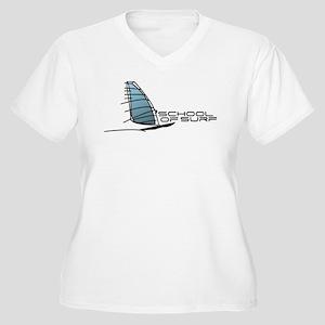 School Of Surf Windsurfing Logo Women's Plus Size