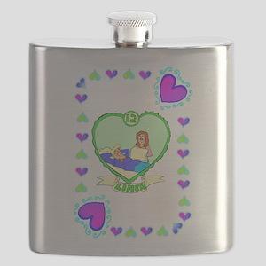 12th Wedding Anniversary, Linen Flask