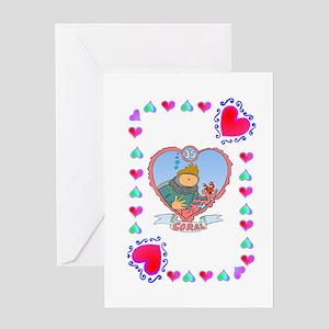 35th Wedding Anniversary, Coral Greeting Card