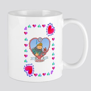35th Wedding Anniversary, Coral Mug