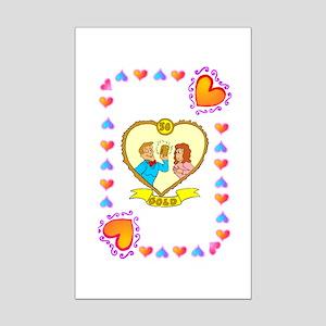 50th wedding anniversary, golden Mini Poster Print