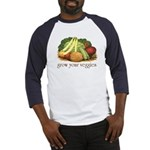 grow your veggies Baseball Jersey