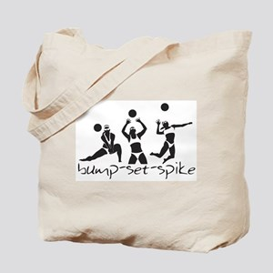 bump-set-spike Tote Bag