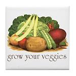 grow your veggies Tile Coaster