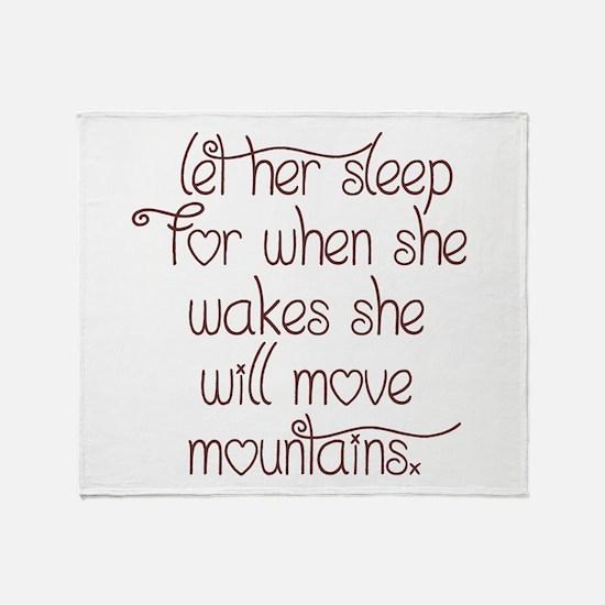 Let her sleep Throw Blanket