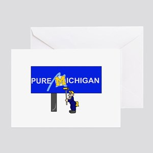Michigan wolverines greeting cards cafepress michigan greeting card m4hsunfo