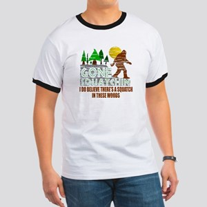 Distressed Original Gone Squatchin Design Ringer T