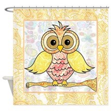 Paisley Owl Shower Curtain