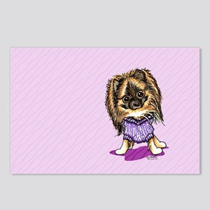Plum Cute Pomeranian Postcards (Package of 8)