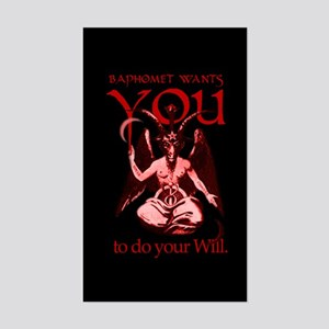 Baphomet Wants You Rectangle Sticker