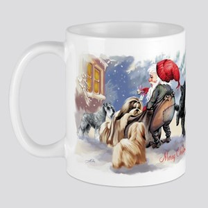 santa and his dogs Mug