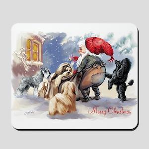 santa and his dogs Mousepad