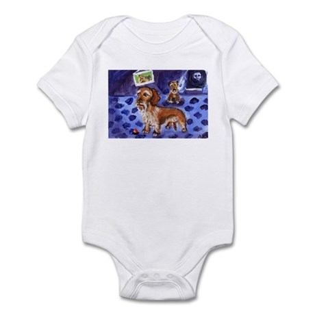 Wirehaired dachshund red Infant Bodysuit