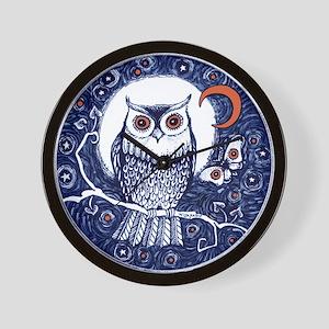 Owl by Liza Paizis Wall Clock