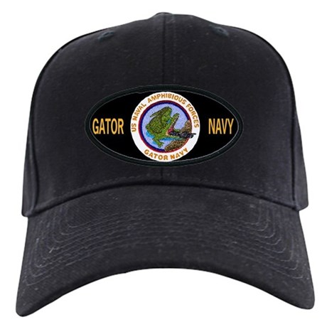 Black Gator Navy Baseball Cap By Linkinmall