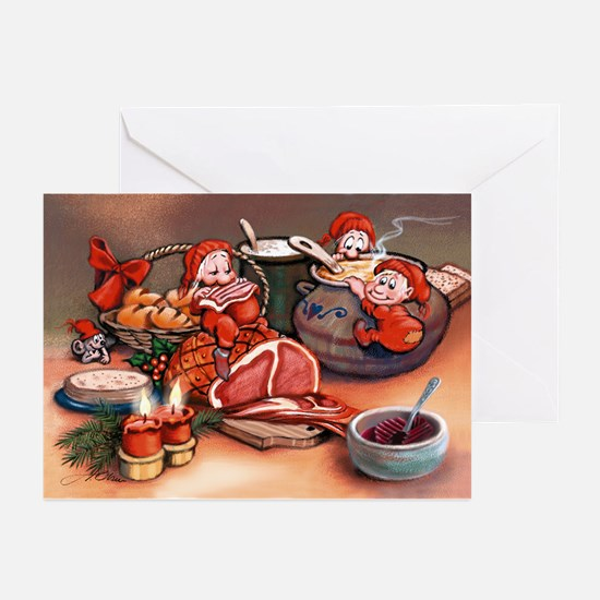 Holiday feast   Greeting Cards (Pk of 10)