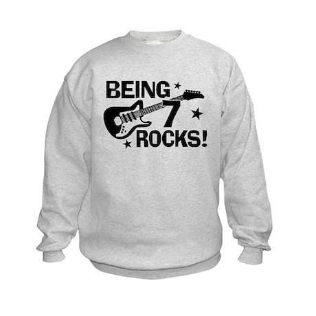 7th Birthday Kids Sweatshirt