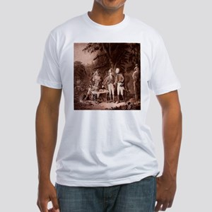 The Swamp Fox Digitally Remas Fitted T-Shirt