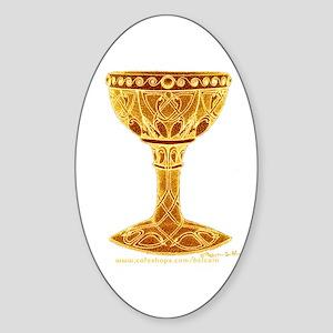 Celtic Grail Oval Sticker