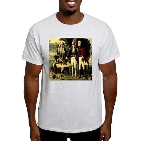 Swamp Fox Engraving Currie & Ash Grey T-Shirt