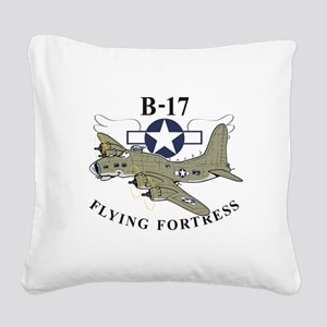 B-17 flying fortress Square Canvas Pillow