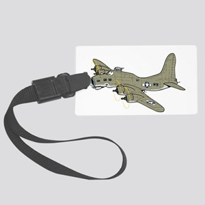 B-17 flying fortress Large Luggage Tag