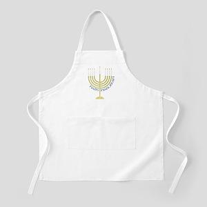 Happy Hanukkah Menorah BBQ Apron