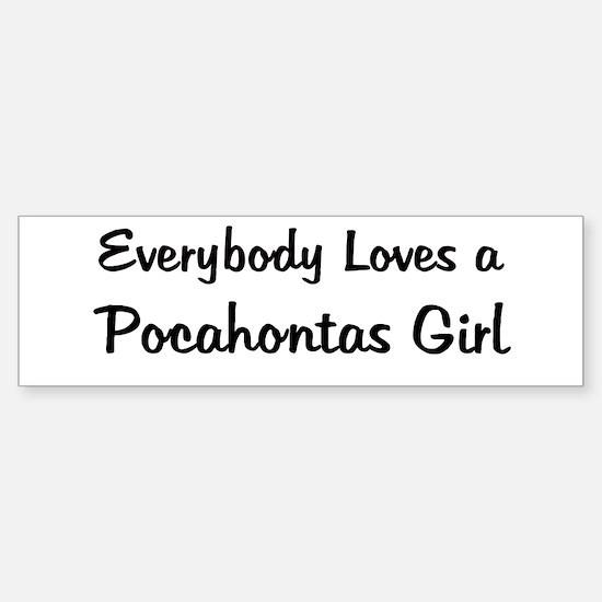 Pocahontas Girl Bumper Bumper Bumper Sticker