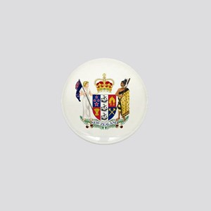 Coat of Arms New Zealand Mini Button