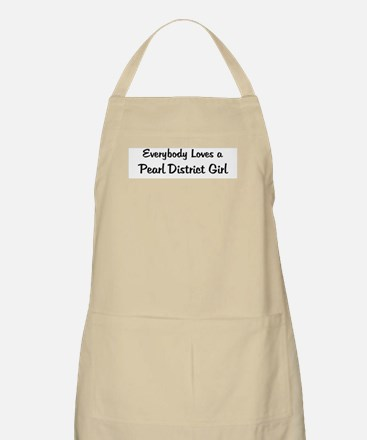 Pearl District Girl BBQ Apron