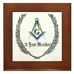 15 year Masons Framed Tile