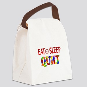 Eat Sleep Quilt Canvas Lunch Bag