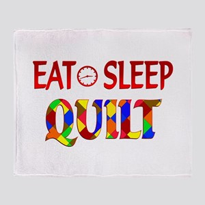 Eat Sleep Quilt Throw Blanket