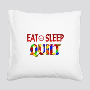 Eat Sleep Quilt Square Canvas Pillow